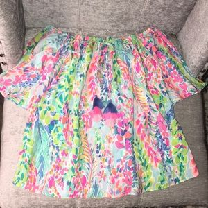 Lilly Pulitzer Cold Shoulder Blouse- xs